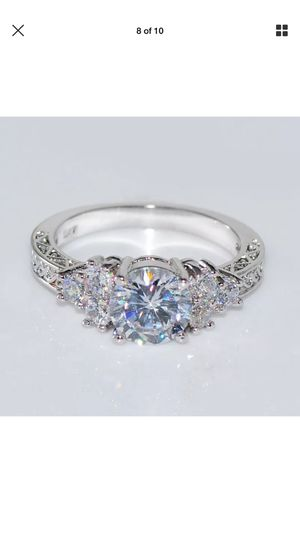 10k gold filled lab created diamond ring women's jewelry accessory wedding engagement for Sale in Silver Spring, MD