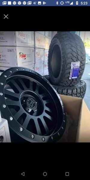 """20"""" BLACK RHINO TIRES & WHEELS EL Cajon 20x10 Wheels & Tires NEW - IN STOCK TODAY for Sale in Westminster, CA"""