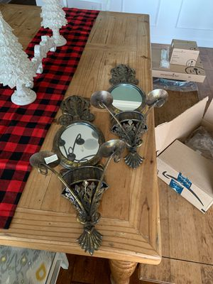 Wall sconces with mirrors and candle holders for Sale in Smyrna, TN