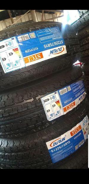 Trailer tires 225 75 15 for Sale in Phoenix, AZ