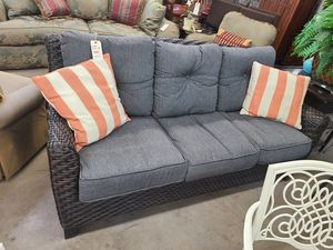 Gray Patio Sofa 🌈 Another Time Around Furniture 2811 E. Bell Rd for Sale in Phoenix, AZ