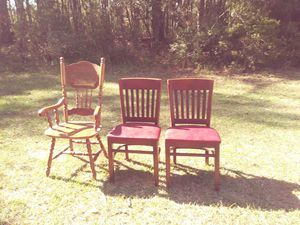 2 up right leather chairs 1 dinning chair for Sale in NC, US