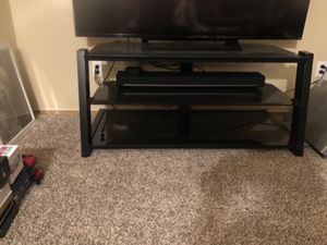 TV Stand. Glass 3 Shelves for Sale in Fife, WA