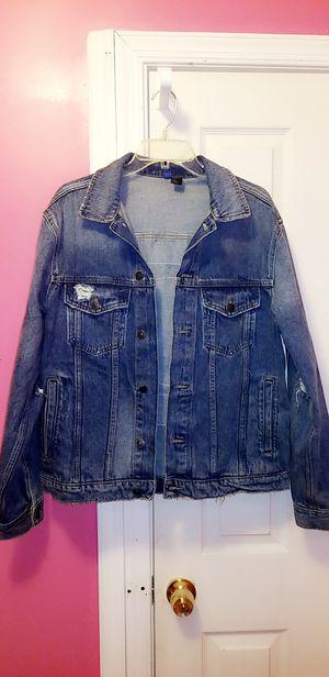 Mens Deniem Distressed Jean Jacket (M) for Sale in Oxon Hill, MD