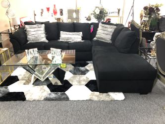 Black Fabric Sectional 9L8 for Sale in Irving,  TX