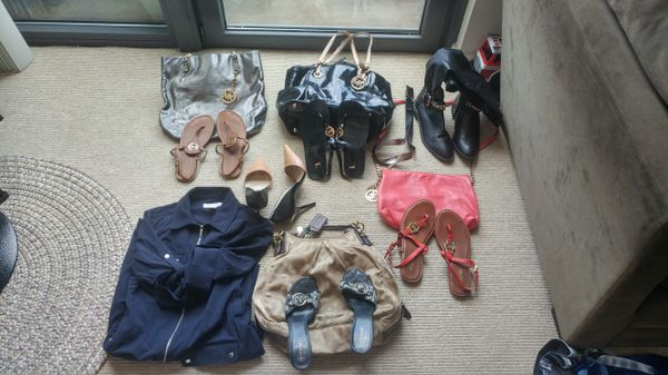 Micheal Kors, Coach, Inder Armour, Zara, Jessica Simpson. Everything selling AS IS. NO REFINDS.