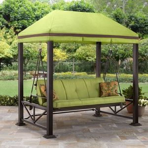 Sullivan Pointe Gazebo Porch Swing Bed, Seats 3 for Sale in Sugar Land, TX