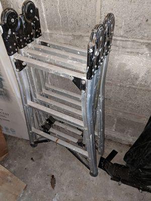 12ft Aluminum Folding Ladder for Sale in Hoboken, NJ