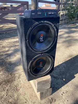 Set of 12s speaker and 1 amplifier of 1500 watts for Sale in Los Banos, CA