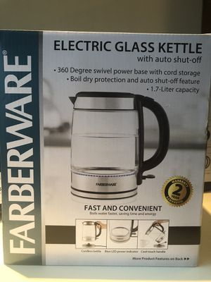Water heater. Electric glass kettle for Sale in St. Louis, MO
