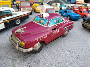 Vintage tin toy Fire Dept chief car collectible for Sale in Tempe, AZ
