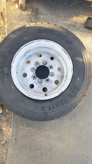 tire 235/75R17.5 and trailer bracket. for Sale in North Highlands, CA