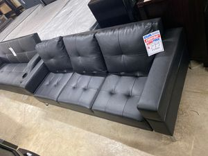 Black leather futon couches for Sale in San Diego, CA