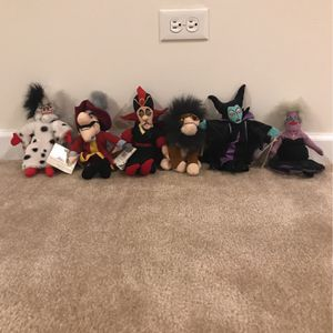 "Disney Mini Bean Bag Villains Set Of 6 8"" for Sale in Plainfield, IL"