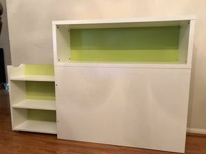 IKEA FLAXA Twin headboard with storage and bookshelf for Sale in Annandale, VA