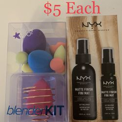 Makeup, GSQ Blender Kit, NYX Setting Spray for Sale in Brooklyn,  NY