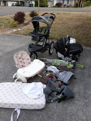 Baby stuff must go! Stroller, car seat, 3 carriers, changing table pad, bottle/milk warmer etc. for Sale in Everett, WA