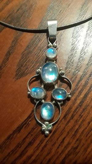 Gorgeous Sterling Silver 925 genuine stone pendant with Sterling Silver 925 necklace. for Sale in Queens, NY
