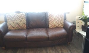 Leather couch for Sale in Denver, CO