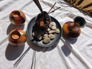 Beautiful decorative set with incense holder and candles for Sale in Scottsdale, AZ