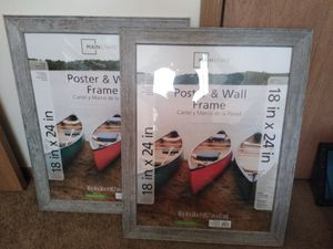 2- 18x24 inch poster frames for Sale in Evansville, IN