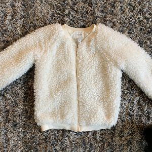 Off white fuzzy sherpa zip up jacket for Sale in Irvine, CA