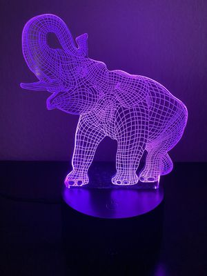 Beautiful elephant 🐘 3D lamp for Sale in Las Vegas, NV