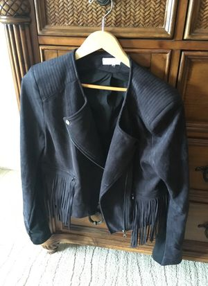 Black fringe jacket for Sale in Boca Raton, FL