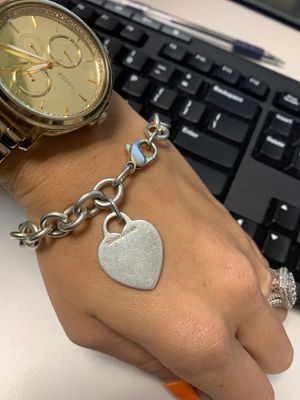 Tiffany & Co. silver heart bracelet for Sale in Boston, MA