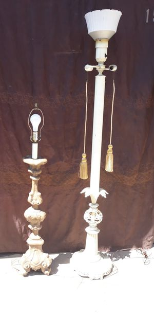 Two floor lamps both work for Sale in Long Beach, CA