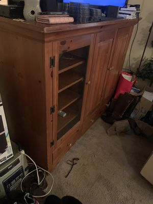 Wood Tv Cabinet for Sale in Raleigh, NC