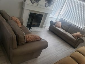 Set of two leather sofas for Sale in Sacramento, CA