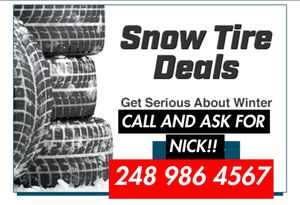 Snow tires sale for Sale in Warren, MI