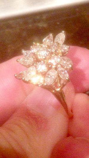 17 DIAMOND STATEMENT RING IN 14K for Sale in McLean, VA
