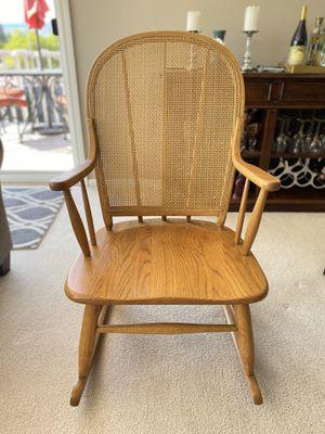 Vintage Cane Back Rocking Chair for Sale in Wenatchee, WA