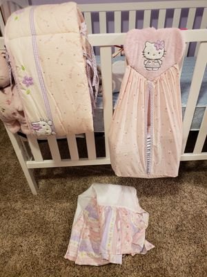 Hello kitty crib set for Sale in Norfolk, VA