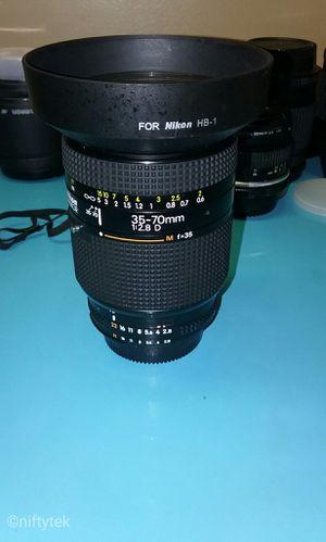 Nikon AF Zoom Nikkor 35-70mm f/2.8D lens for Sale in University Park, MD