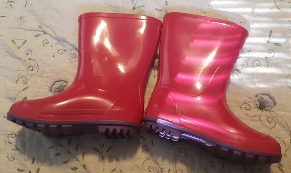 Pink Rain Boots- Toddler Girl Size 7-8