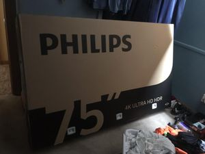 Brand New in box Phillips 75 inch tv or best offer for Sale in Farmington Hills, MI