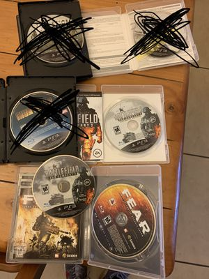 PS3 games battlefield bad company 2 ultimate edition , fear first encounter assault recon ,battlefield bad comp for Sale in El Paso, TX