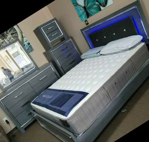♨️♨️ Best Offer ♨️SPECIAL] Lodanna Gray LED Panel Bedroom Set 🙋‍♀️🙋‍♀️SAME DAY DELIVERY ON DISPLAY for Sale in Jessup, MD