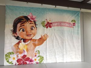 Baby Moana Happy Birthday Banner for Sale in Richardson, TX