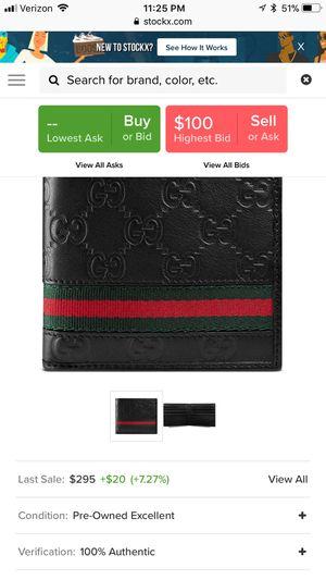 Gucci Bifold Wallet Signature Web Black original price 300 for Sale in Orlando, FL
