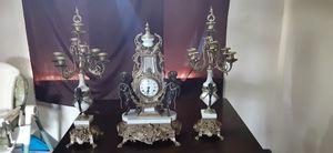 3 piece brevettato imperial clock and candelabra for Sale in Tacoma, WA