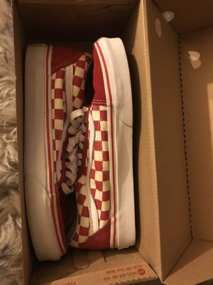 Red checkerboard vans for Sale in Portland, OR
