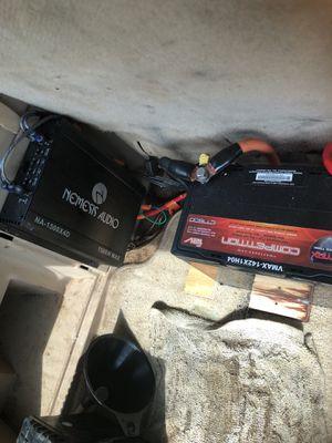 Nemesis audio highs amp 1500watts n battery ct1500 for Sale in Grosse Pointe Park, MI
