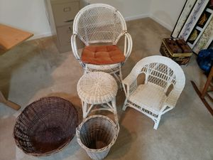 Wicker Furniture and Other Items for Sale in Northampton, PA