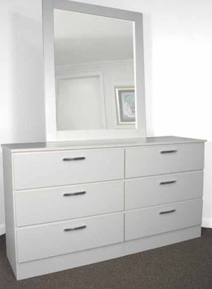 NEW SIX DRAWER DRESSER AND MIRROR AVAILABLE FOR DELIVERY for Sale in North Miami Beach, FL