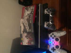 PS3 with games and all cords with 2 controllers for Sale in Millcreek, UT