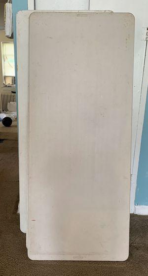4 long white tables for Sale in Reston, VA
